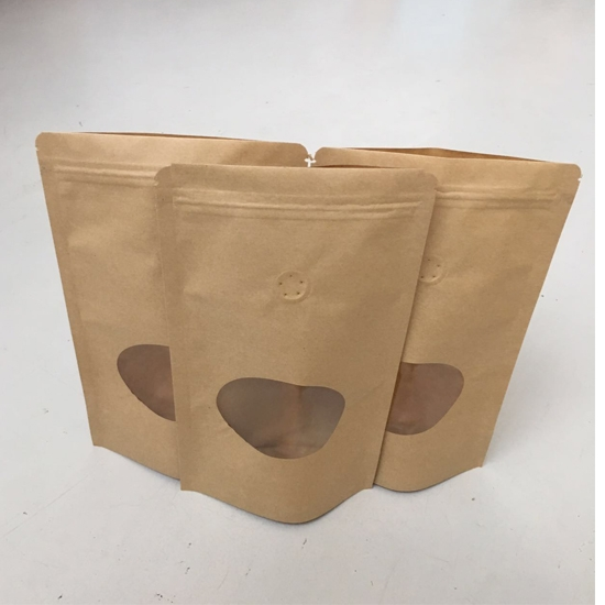 Fenestration valve kraft paper bag